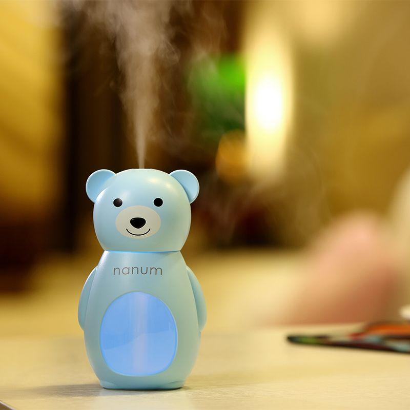 160 ml Mignon Ours Humidificateur LED Lumière Diffuseur D'air Purificateur Atomiseur Huile Essentielle Diffuseur Diffuseur De Aroma Mist Maker Fogger