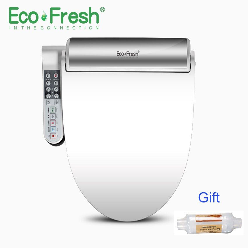 EcoFresh Smart toilet seat Washlet Electric Bidet intelligent heated toilet seat cover led lighting Massage care for child woman