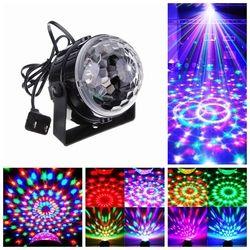 Commande vocale RGB LED Stade Lampes Cristal Boule Magique Contrôle Son Laser Stade Effet Light Party Disco Club DJ Lumière