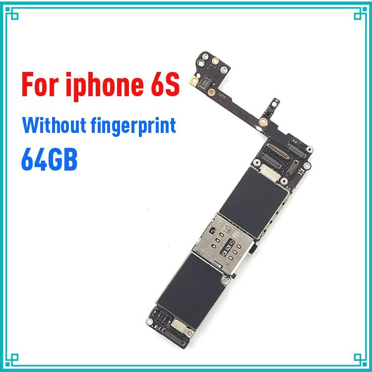 original 64GB motherboard for iphone 6S 4.7inch without touch ID IOS system logic board mainboard without fingerprint