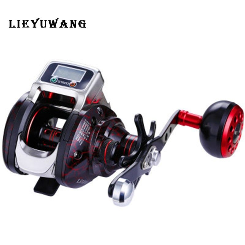 LIEYUWANG LS3000 Digital Counting Wheel Bait Casting Reel Rate ratio 6.3:1 14+1bb Max Drag 5kg Large Throwing Red Fishing Spool