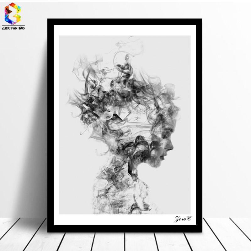 ZeroC Cuadros Affiches Et Gravures Noir Mur Art Toile Peinture Smog Photos Pour Salon Nordique Décoration Fille Dissoudre Me