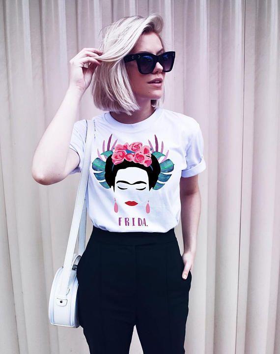 Hillbilly New Fashion Frida Kahlo T-Shirt Frida Girl Power Outfit Unisex Tshirt Feminist Tee DTG Print Modal Spandex Women Tops