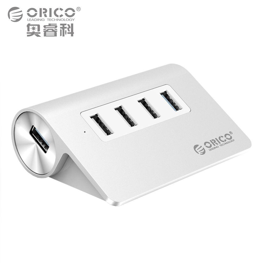 ORICO USB HUB 1 Ports USB3.0 5 Gpbs 3 Ports USB 480 Mbps geschwindigkeit Aluminiumlegierung für iMac Desktop Laptop mit 100 cm Kabel