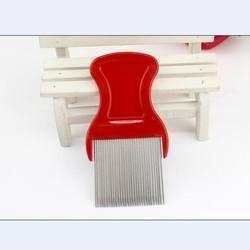 Cepat cara pengiriman 9 CM logam stainless steel kutu sisir detangle dekat perawatan pembersih tine sisir untuk rambut hairdressing styling alat