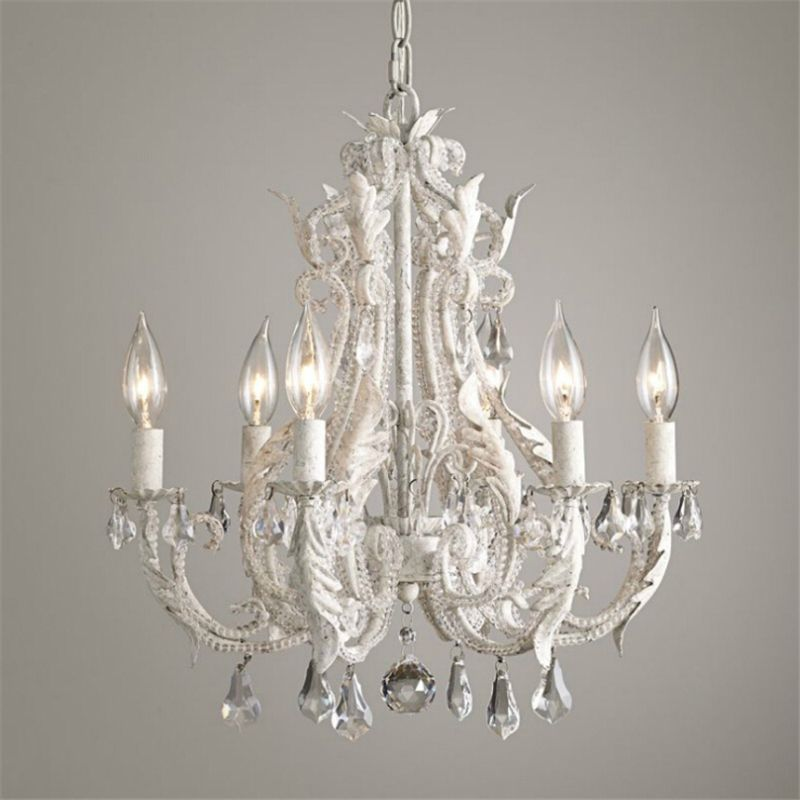 French Retro Nordic Simple Livingroom Chandelier Bedroom Restaurant Palace Princess Room Cafe Bar Crystal Lamp Free Shipping