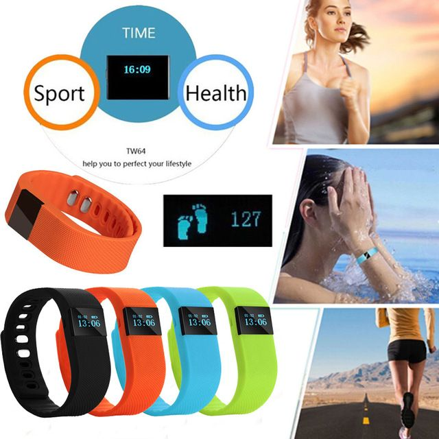Tw64 fitness tracker bluetooth smart band sport armband smart band armband schrittzähler für iphone ios android pk fitbit