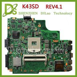 Kefu K43SD Motherboard Laptop UNTUK ASUS K43SD K43E A43E K43SV K43SJmianboard Asli GT610M 2 GB DDR3 Slot Uji Papan Utama