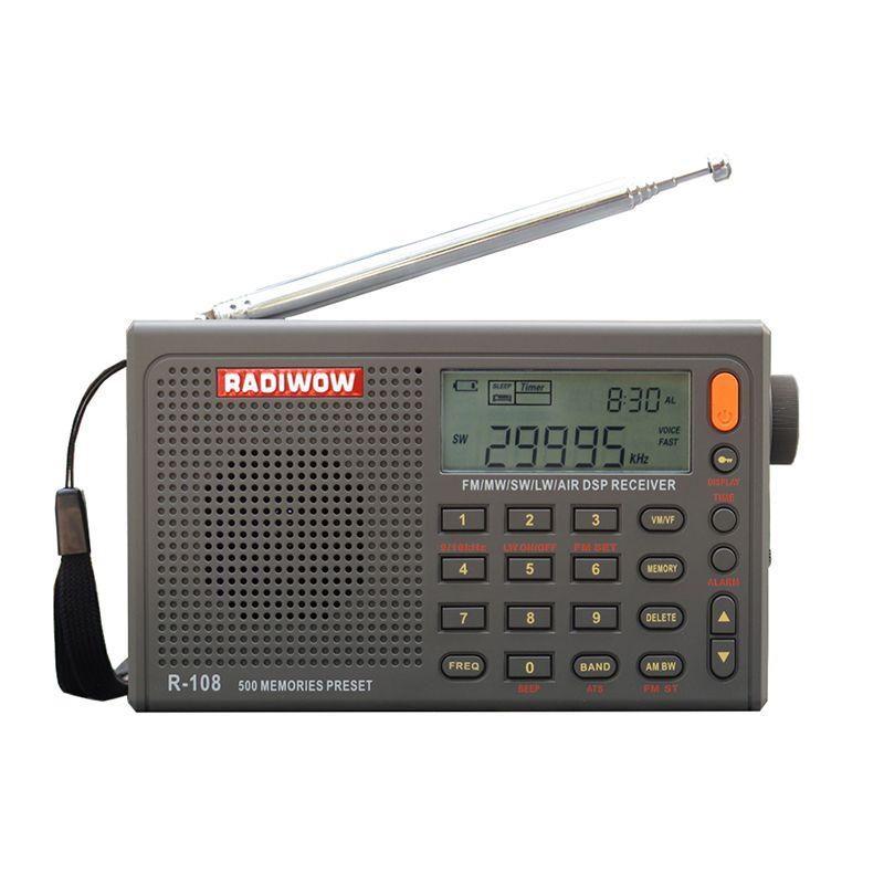 RADIWOW R-108 Radio Digitale Tragbare Radio FM Stereo/LW/SW/MW/AIR/DSP Empfänger mit LCD/Hohe qualität sound für indoor & outdoor