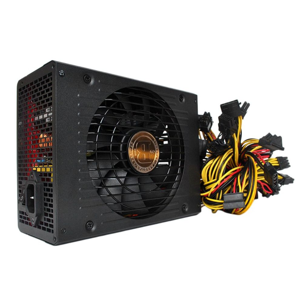 High Efficiency Rated 1800W Safe Stable Power Supply for Mining Miner Machine with Low Noise Cooling Fan For PC Windows