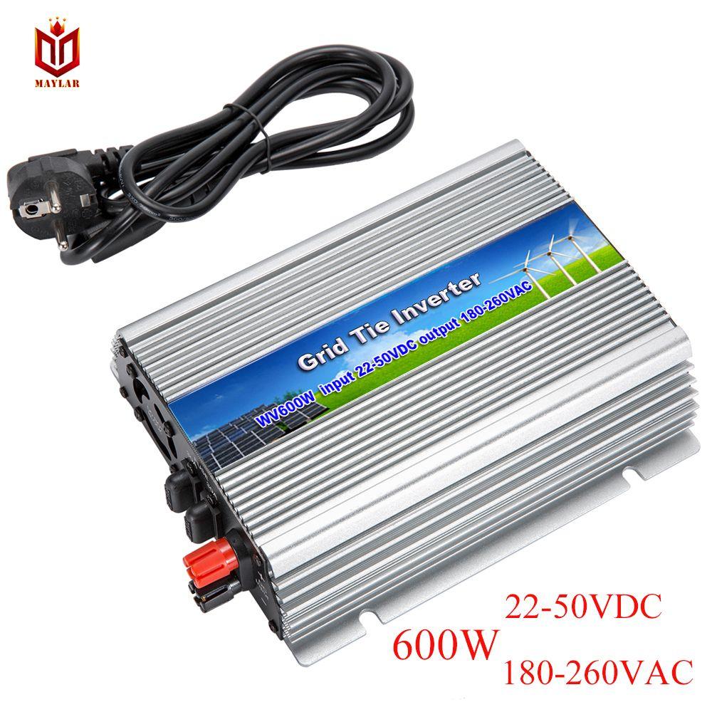 MAYLAR@ 22-50VDC 600W On Grid Pure Sine Wave Power Inverter with MPPT Function Output 220V/230V/240VAC 50Hz/60Hz For PV System