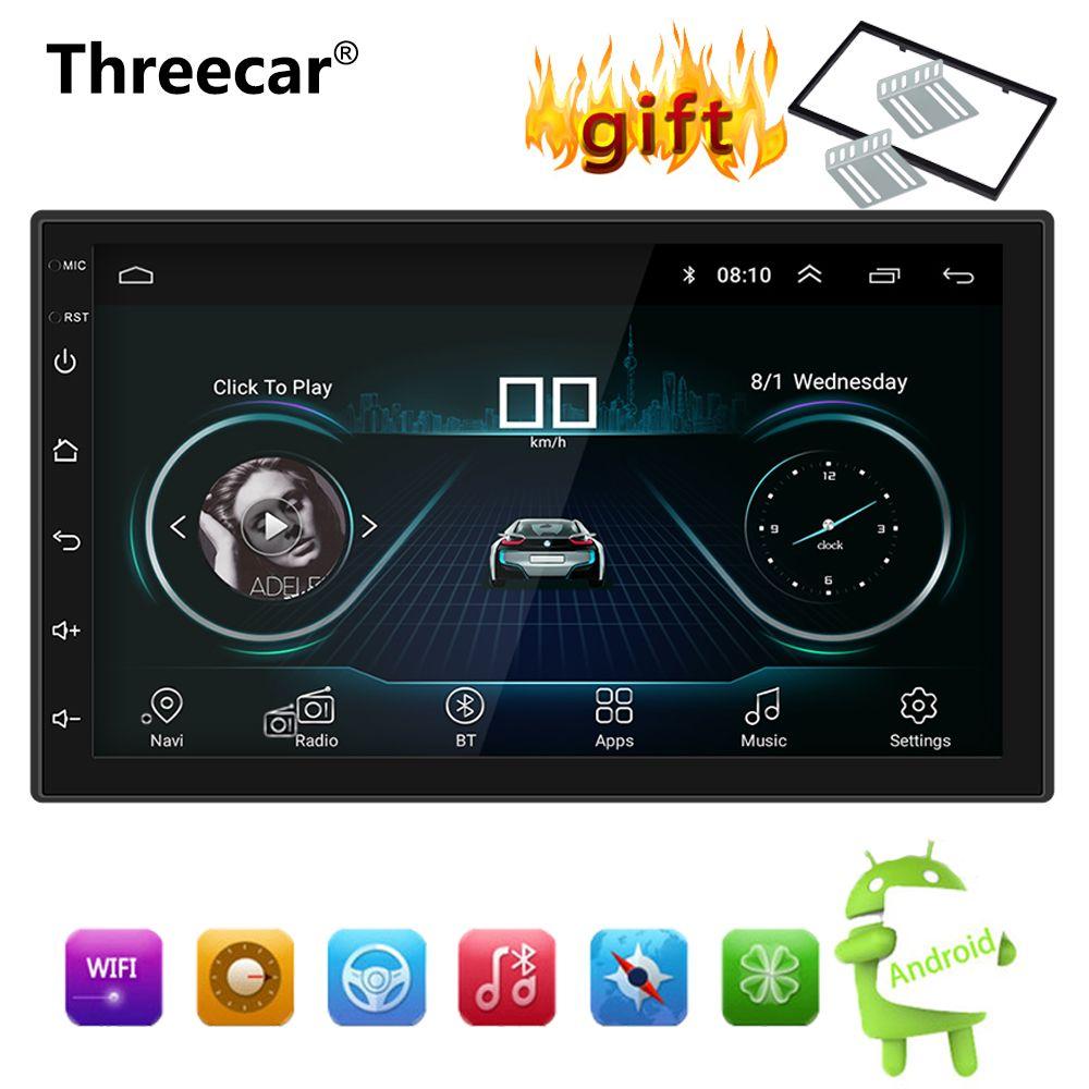 Android 8.1 Car Radio Stereo GPS Navigation Bluetooth wifi Universal 7'' 2din Car Radio Stereo Quad Core Multimedia Player Audio