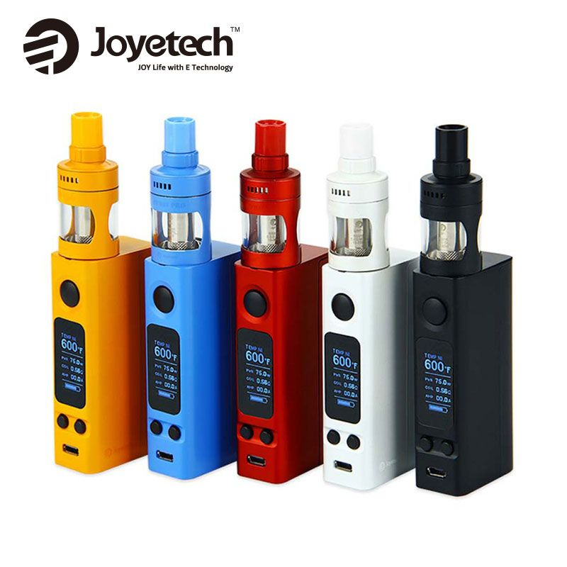 100% Original 75w Joyetech eVic VTwo Mini Cubis Pro Kit 4ml CUBIS Pro Tank eVic Electronic Cigarette with Vtwo Mini Box Mod 75W