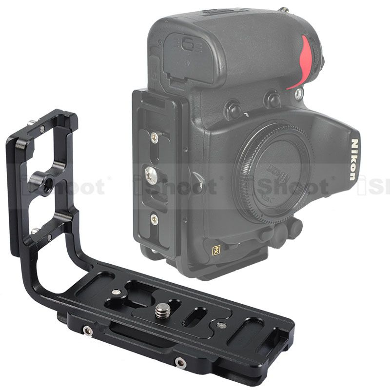 iShoot L Bracket Vertical Quick Release Plate Camera Holder Grip for Nikon D7100 D7000 D5200 D5100 D5000 D3200 D300/D600 D90 D80