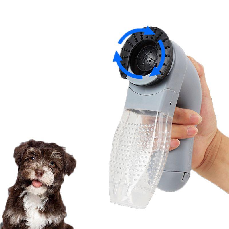 En plastique Électrique pet dispositif d'aspiration sucer portable chat et chien massage cleaner vide animal de la famille fournitures bâton de cheveux brosse à cheveux