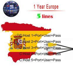 Europea de IT es canales DVB-S/S2 satélite cccam líneas 1 año 5 líneas validez Clines newcamd USB wifi receptor de TV por satélite