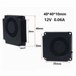 2 PCS Gdstime 3D Imprimante Accessoires 12 V 4010 40mm DC Turbo Ventilateur Ventilateur Radial Ventilateurs De Refroidissement