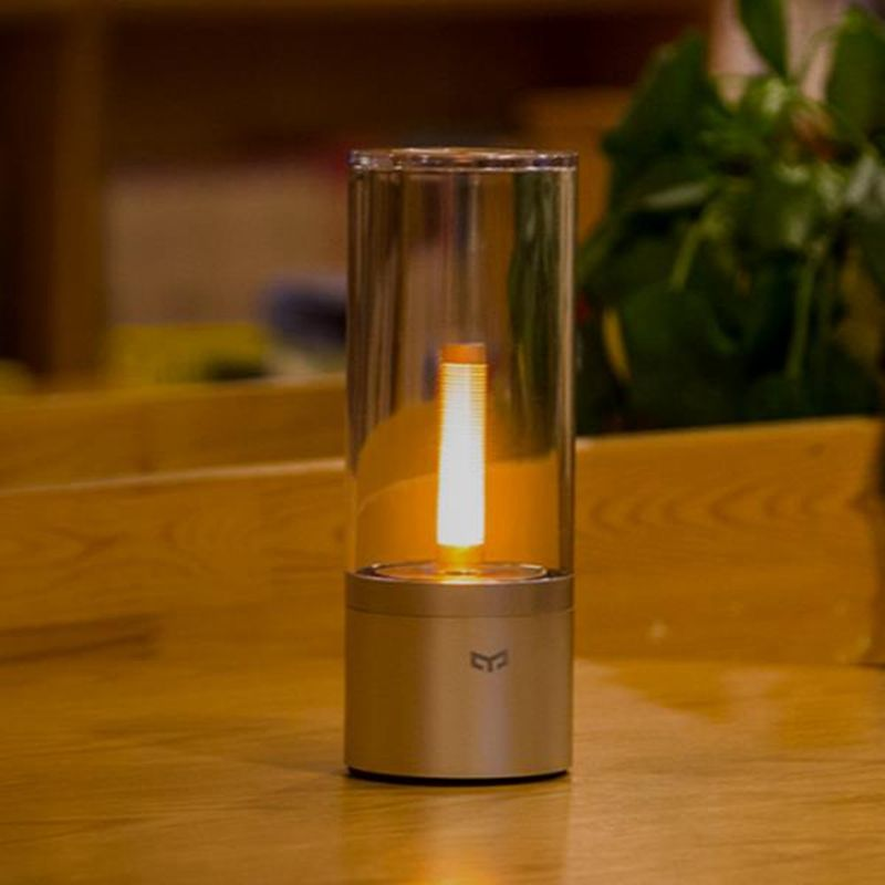 Original Xiaomi Smart Home Yeelight 6.5W 2100mAh Rechargeable Dimmable LED Candle for Night Light the Latest Bluetooth Control
