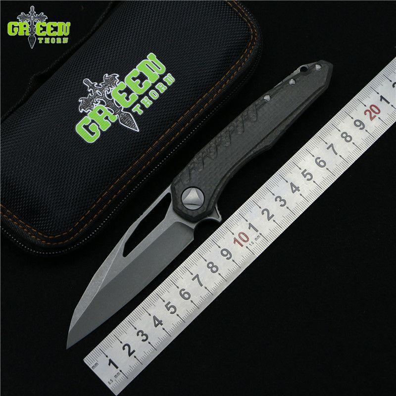 Grün dorn marfione Flipper klappmesser M390 stahl lager titan CF griff camping jagd outdoor obst Messer EDC werkzeuge