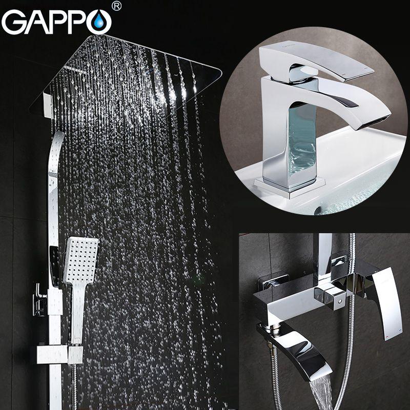 GAPPO Dusche Armaturen badewanne wasserhähne bad dusche set becken armaturen basin waschbecken tap dusche system