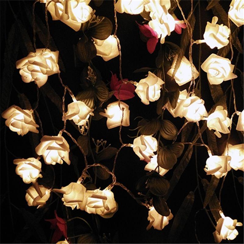 2017 Многоцветный Декор. свадьба Роуз Света Шнура СИД Батареи для Партии Событие Рождество День Рождения Украшения Светильников Casamento