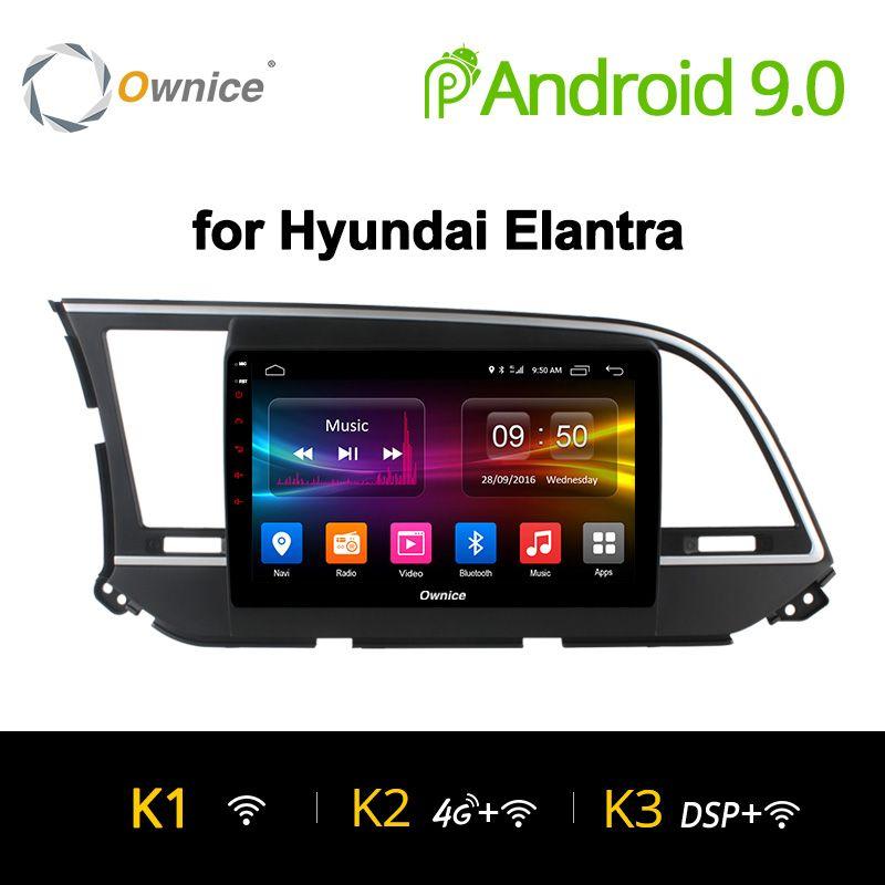 Ownice K1 K2 K3 AUTO Radio Player 9 für Hyundai Elantra 2016 gps navi Android 9.0 Octa 8 Core 4G LTE 32 GB DAB + Carplay DVR