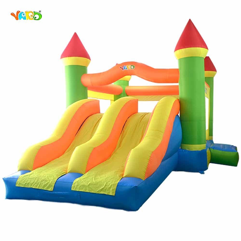 Riesigen Dual Rutsche Hüpfburg Springen Türsteher Hüpfburg Aufblasbare Trampolin Prahler Kinder Im Freien Spielen Spiele