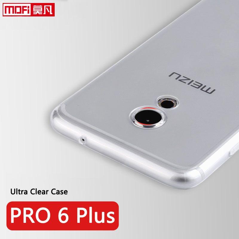 Meizu PRO 6 Plus cas en silicone souple effacer back tpu de protection téléphone coque transparent ultra mince 5.7