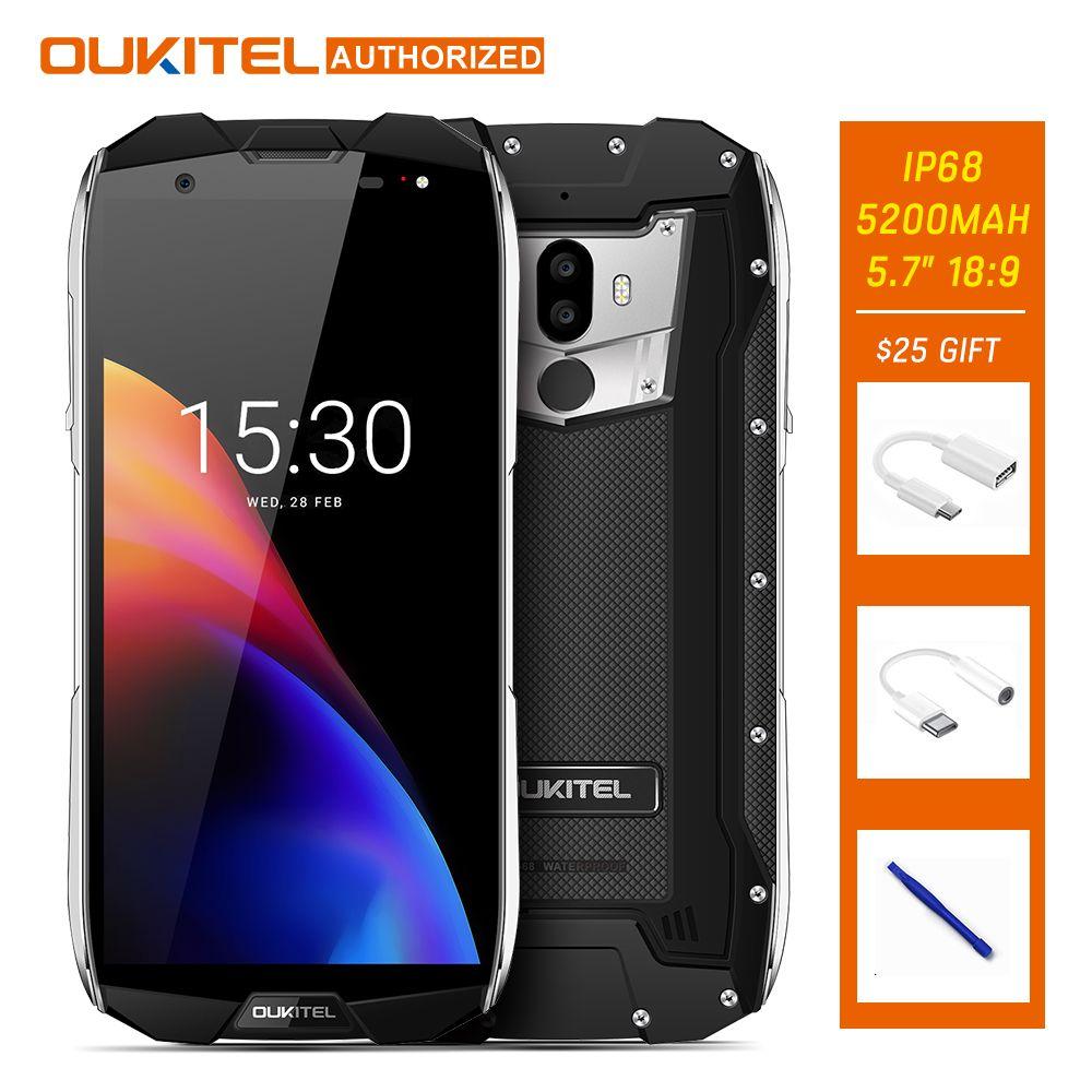 Oukitel WP5000 IP68 Waterproof 4G Smart phone 5.7'' 18:9 MTK6757 P25 Octa Core Mobile Phone 6GB RAM 64GB ROM 5200mAh Helio 9V 2A