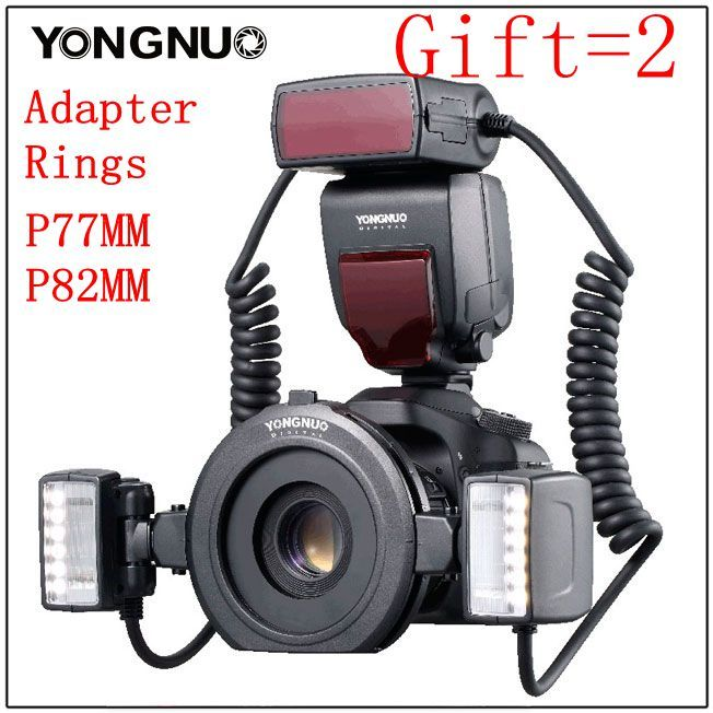 Yongnuo YN24-EX YN24EX ETTL Macro-photo Flash Speedlite for Canon with Double Head Flash-light for Canon EOS 5DIII 7DII 80D 750D