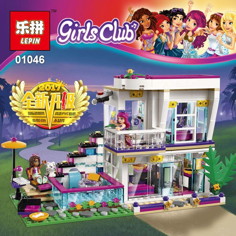 Lepin 01046 Friends Girl Series 644pcs Building Blocks kids toys Livi's POP Star House Designer toy gifts Compatible Legoe 41135