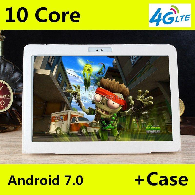 4G LTE T100 1920x1200 Android 7.0 Tablet PC Tab 10,1 Zoll IPS Deca Core 4 GB + 64 GB Dual SIM Karte Anruf 10,1