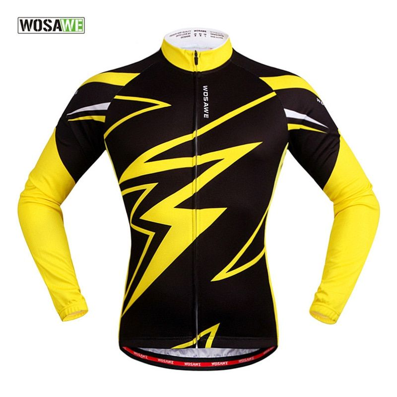 WOSAWE Men Waterproof Breathable Cycling Jacket Sport Bike Coupe Vent Mtb Bicycle Jacket Cycling Windproof Running Jacket