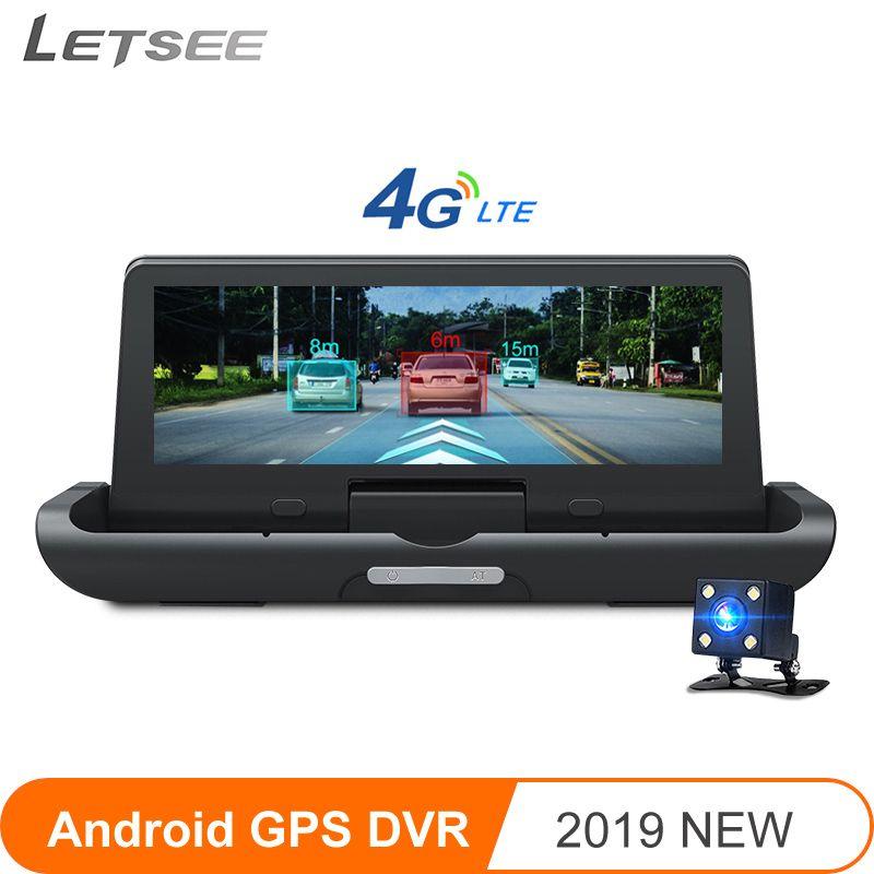 Letsee Z10 4G ADAS Auto DVR dashcam Volle HD1080P Kamera video recorder 7,84 zoll IPS Android GPS Rückansicht kamera autoregistrars