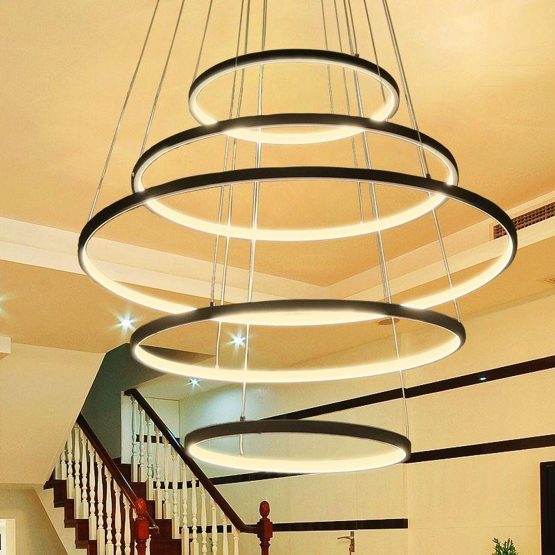 Neue Kreis Ringe Moderne LED Anhänger Lichter Für Wohnzimmer Schlafzimmer 5 4 3 2 Tiers Led Anhänger Lampe Mode home Beleuchtung Leuchten