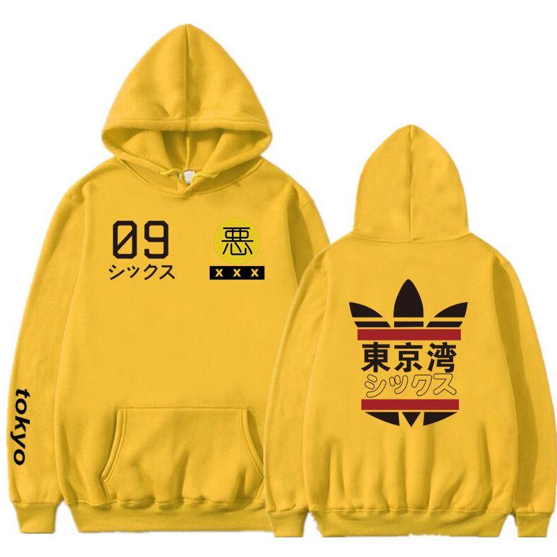 2019 nouveaux hommes sweat à capuche pour femme harajuku printemps Sweatshirts Tokyo Bay Hoodies outwear mode caoutchouc poudre hip-hop garçons vêtements