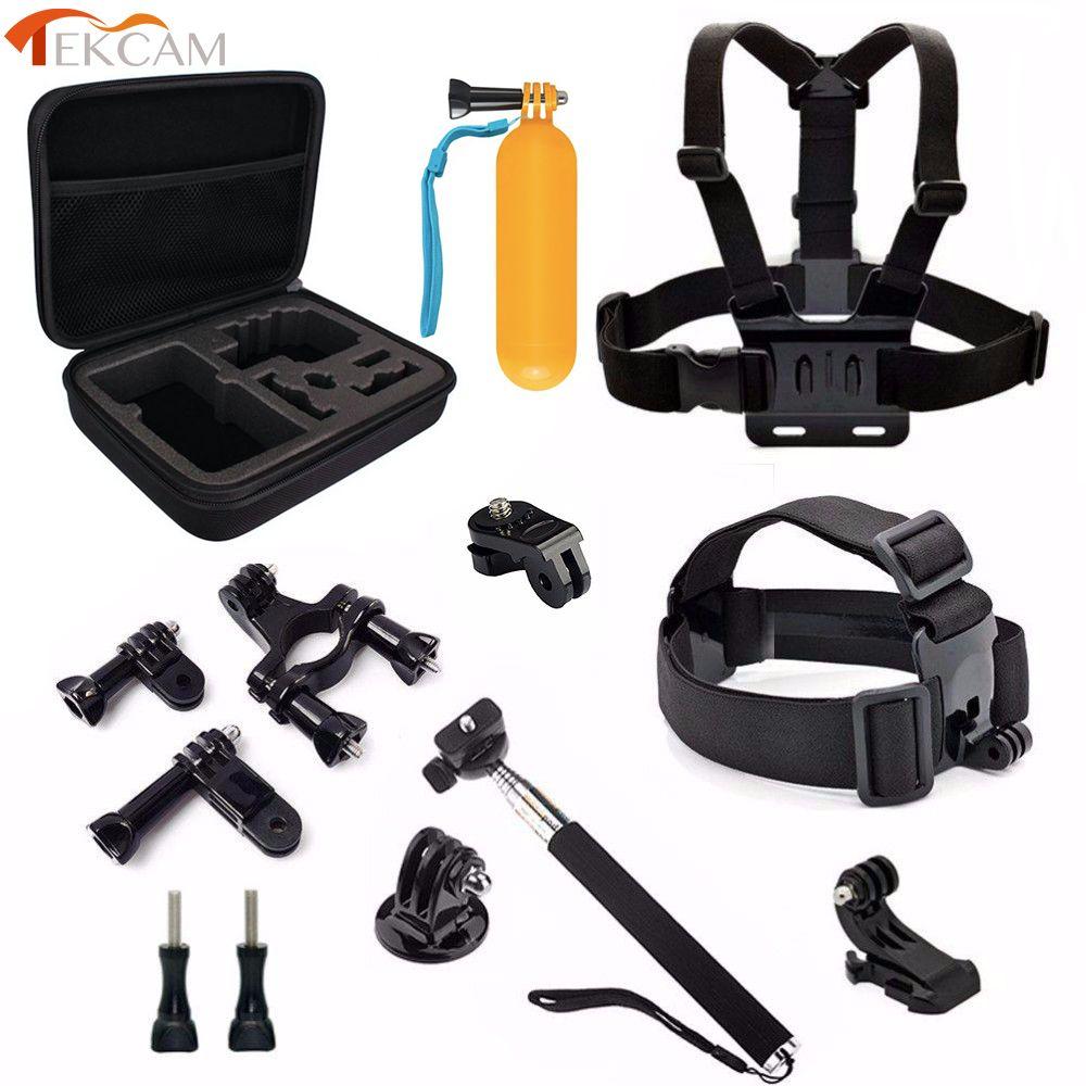 Tekcam Action Camera Accessories Head Mount Selfie Monopod for yi 4k EKEN H9/h9r H5S H6S Thieye i60 SJCAM SJ4000 SJ5000 Goldfox