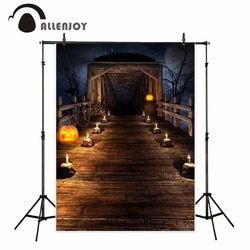 Allenjoy photography backdrops Bridge broken vintage skeleton candle backdrop photocall photo printed HD files excluding stand