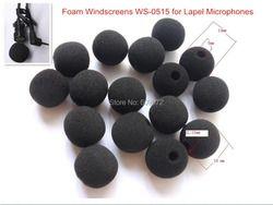 Foam Windscreens,round ball shape , WS-0515, lavalier microphone , 5mm opening &15mm inner length, 10 pcs / lot, Singapore Post