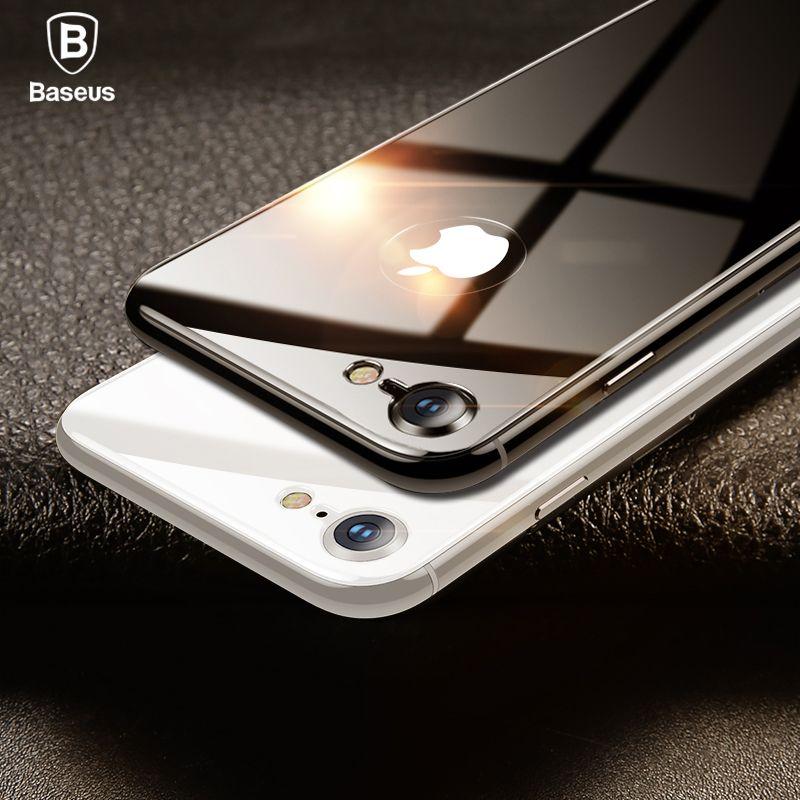 Baseus 0,3mm 4D Zurück Screen Protector Für iPhone 8 8 Plus Zurück Film 9 H Hinten Gehärtetem Glas Anti -Scratch Schutz Glas Film