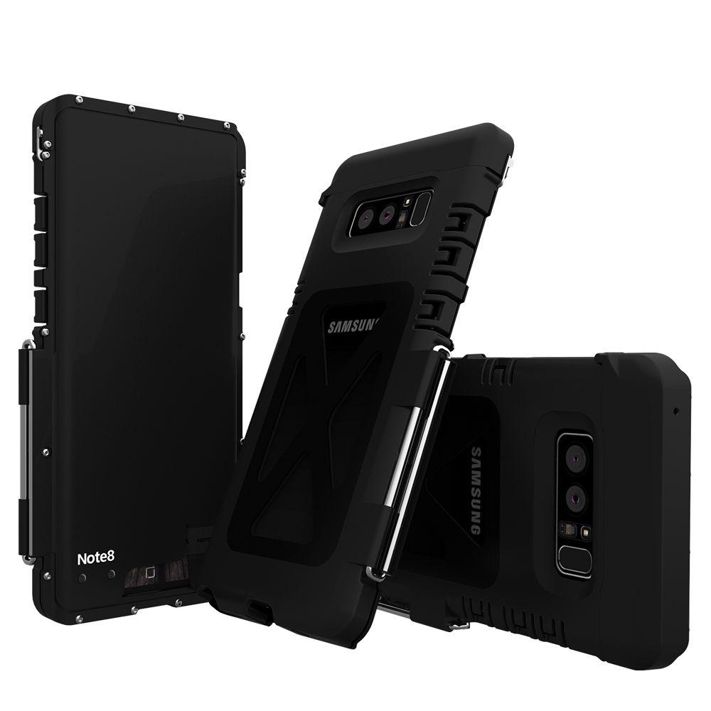 Ständer Edelstahl Metall 304 Flip Fall Für Samsung Galaxy Note 8 Stoßfest Note8 Sport Flip Abdeckung Kunststoff Silizium Fall Schlank