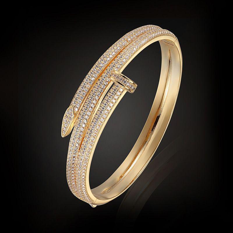 Blucome Brand AAA Zirconia Bangles Bridal Wedding Jewelry Dubai Zircon Bangles & Bracelet For Women Pulseira Feminina Pulseira