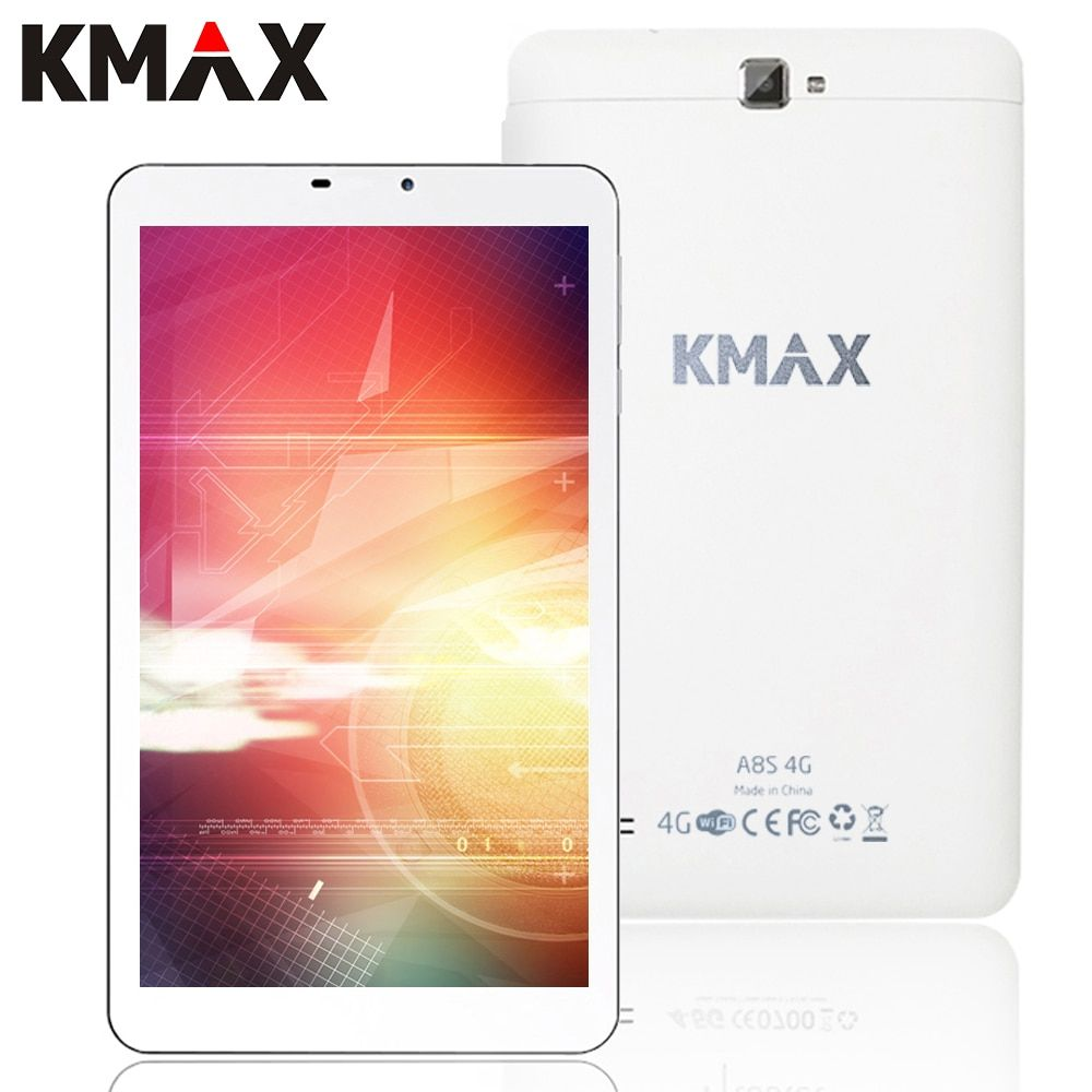 KMAX 4G Téléphone Tablet PC Android 5.1 8 pouce 4G Internet Quad Core MT8735 Tablet PC 2 GB 16 GB GPS Wifi Bluetooth 2.0MP 5.0MP Caméra