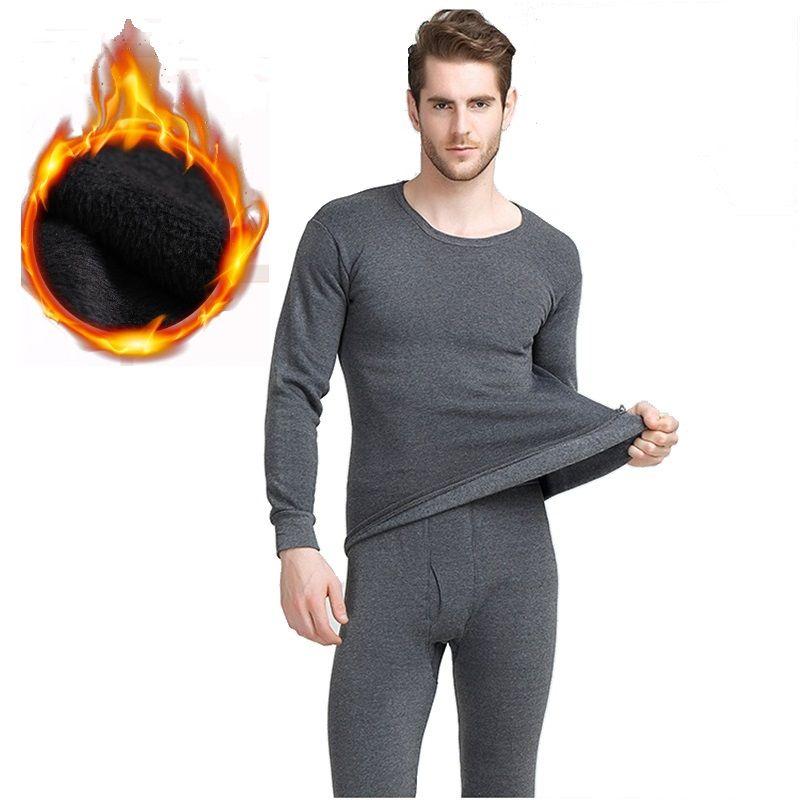 Hiver caleçon long épais sous-vêtements thermiques ensembles garder au chaud pour La Russie Canada et L'europe hommes