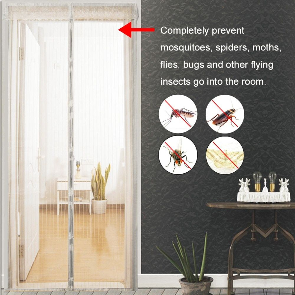 Лето anti mosquito Шторы Магнитная Тюль Шторы автоматического закрывания дверей Экран Кухня Шторы различных размеров