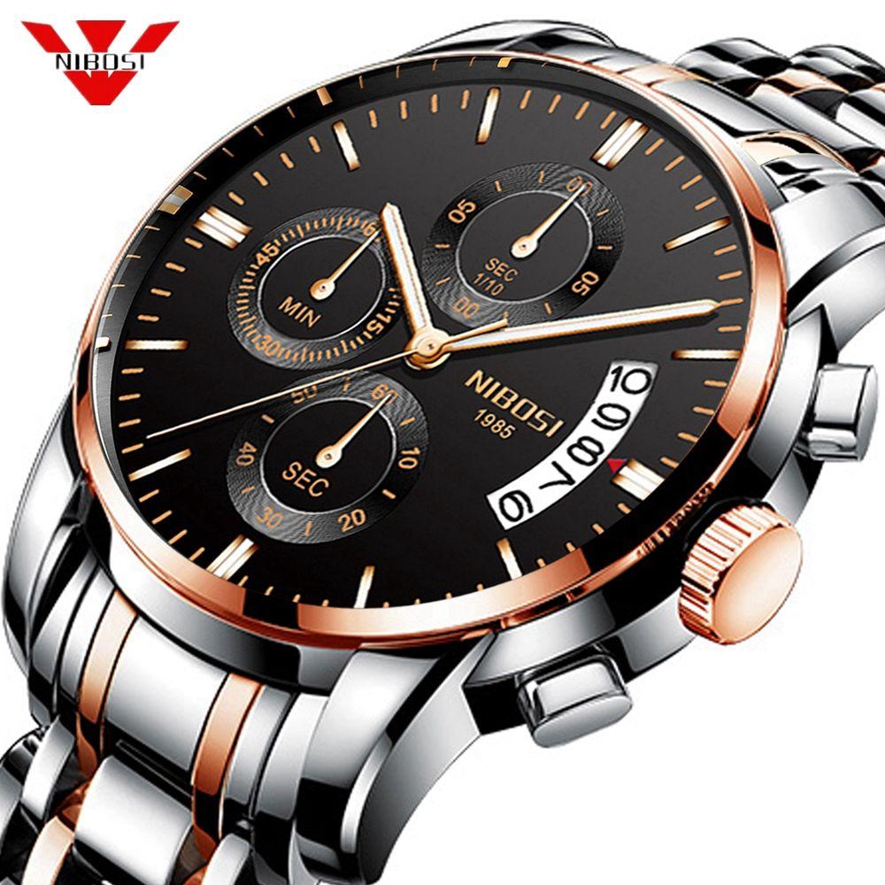 NIBOSI 2019 New Watch Men Military Sport Quartz Clock Mens Watches Top Brand Luxury Waterproof Wrist Watch Relogio Masculino