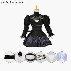 Nier Automata Cosplay Kostum Yorha 2B Pakaian Seksi Game Cocok Wanita Peran Bermain Kostum Gadis Halloween Partai Fancy Gaun