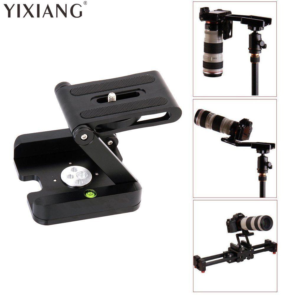 YIXIANG Tripod Heads Solution Photography Studio Camera Tripod Z Pan & Tilt Flex Tilt Head Aluminum Alloy