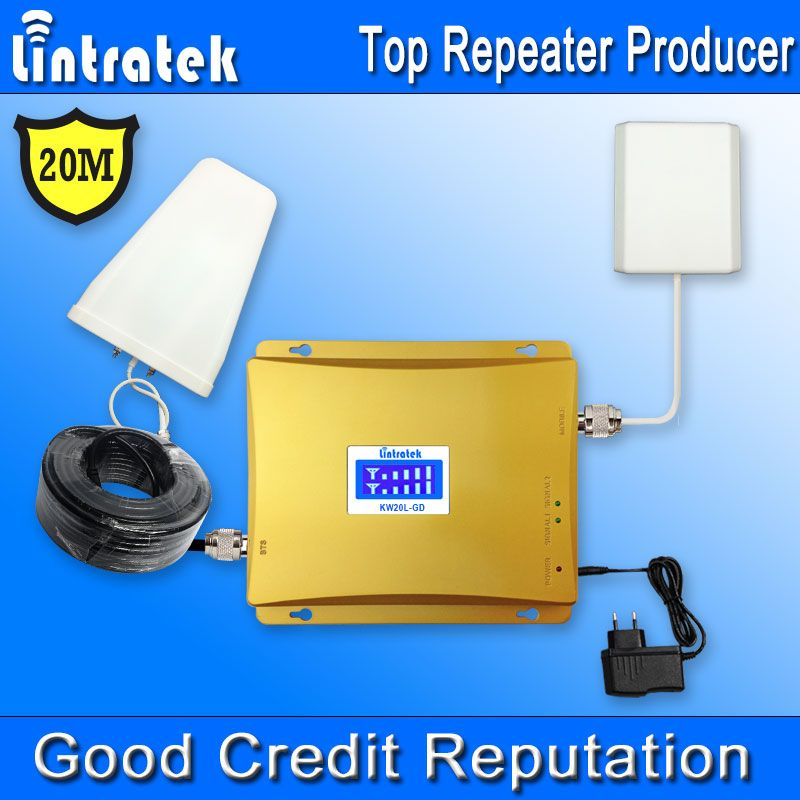 20 Meters GSM 900MHz 1800MHz 4G Signal Booster LCD Display GSM 1800 4G LTE 1800 Mobile Phone Signal Repeater Amplifier Kit *