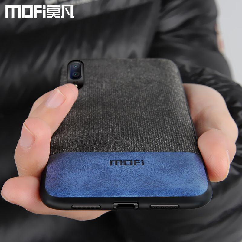 Huawei P20 housse Huawei P20 Pro couverture arrière de silicone bord tissu protéger cas coque MOFi d'origine Huawei P20 Lite cas